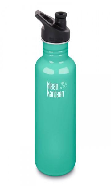 Edelstahl Trinkflasche Classic 800ml Sport Cap