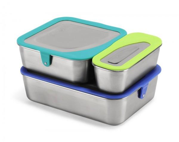 Edelstahl Essensbehälter Lunchbox 3er Set auslaufsicher