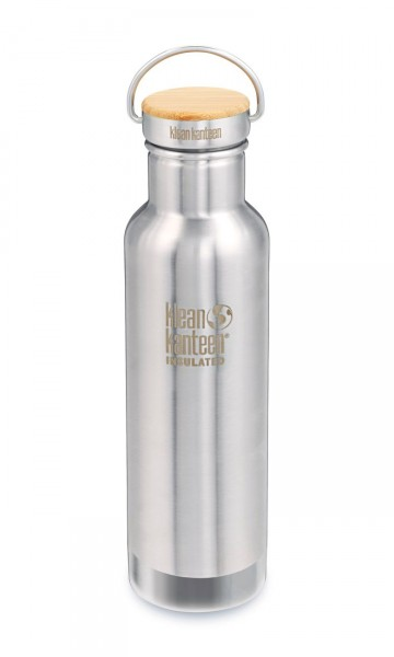 Edelstahl Isolierflasche Reflect 592ml Bambus-Schraubverschluss