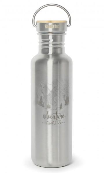 Edelstahl Trinkflasche Reflect Adventure Awaits 800ml Bambus-Schraubverschluss