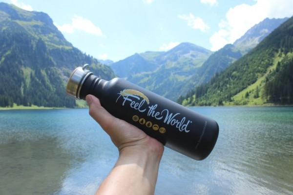 Klean-Kanteen-Edelstahlflasche-Classic-einwandig-Feel-the-World-800ml-am-See-1