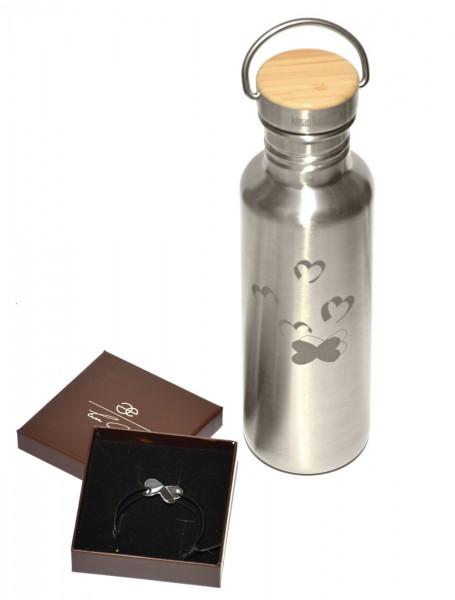 Reflect Einwandig 27 oz (800 ml) mit Eva Gold Herz-Armband