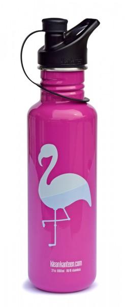 Classic einwandig Flamingo 27oz (800 ml) mit Sport Cap