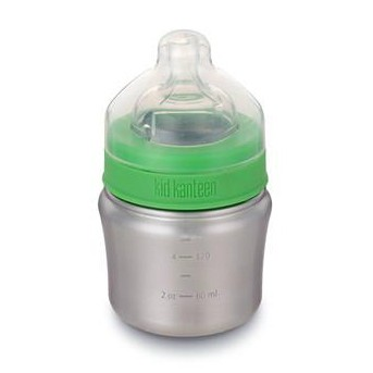 Edelstahl Babyflasche 148ml 0-6 Monate langsamer Trinkfluss