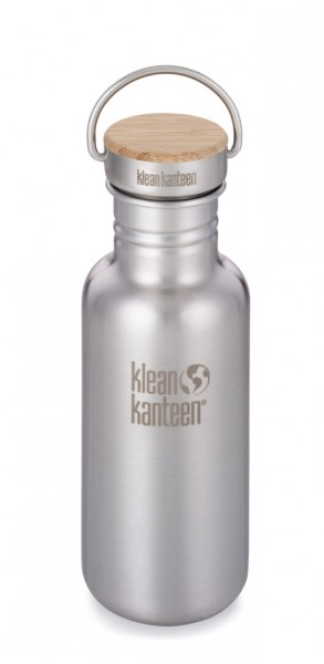 Edelstahl Trinkflasche Reflect 532ml Bambus-Schraubverschluss