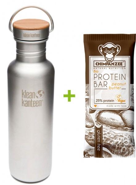Reflect 800ml + Chimpanzee Protein Riegel Erdnussbutter