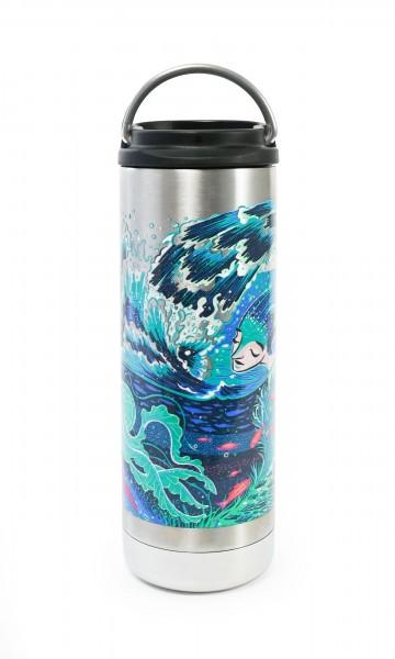 Edelstahl Isolierflasche TKWide Surfrider 473ml Café Cap