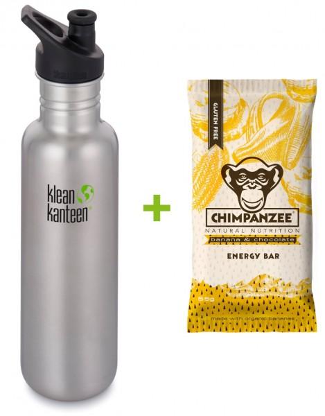 Classic 800ml + Chimpanzee Energie Riegel Schoko-Banane