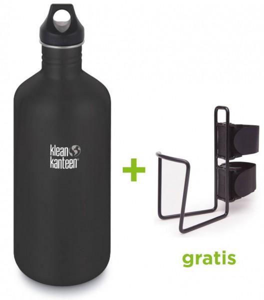 Classic einwandig 64 oz (1900 ml) mit Loop Cap + gratis Fahrrad-Flaschenhalter